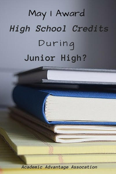 High School Credits During Jr Hi